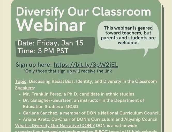 Diversity our Classroom Webinar